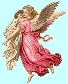 Angel holding child